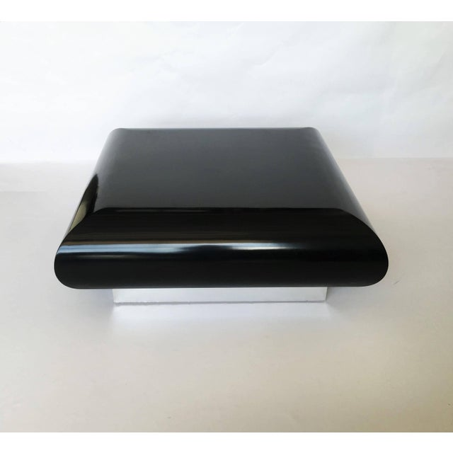 Spectacular Karl Springer Lacquer Coffee Table For Sale - Image 4 of 10