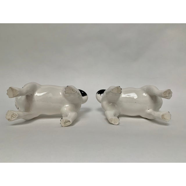 Large Italian Ceramic Pug Puppy Dog Figures - a Pair For Sale - Image 10 of 12