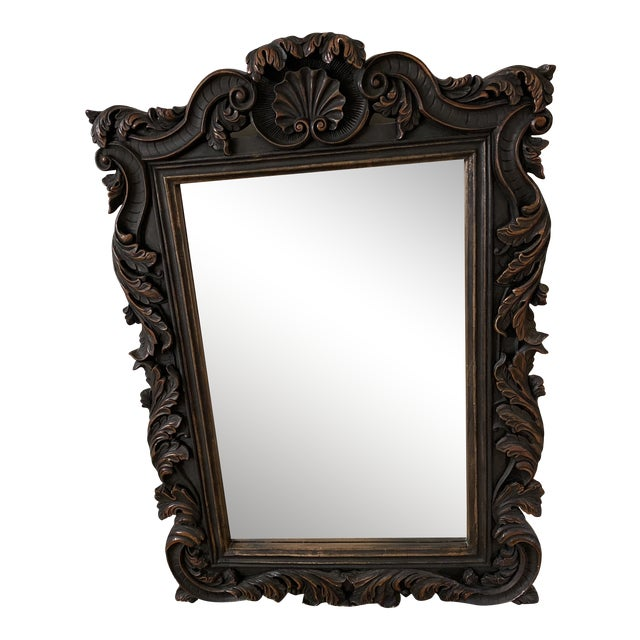 Large Carved Wall Mirror For Sale