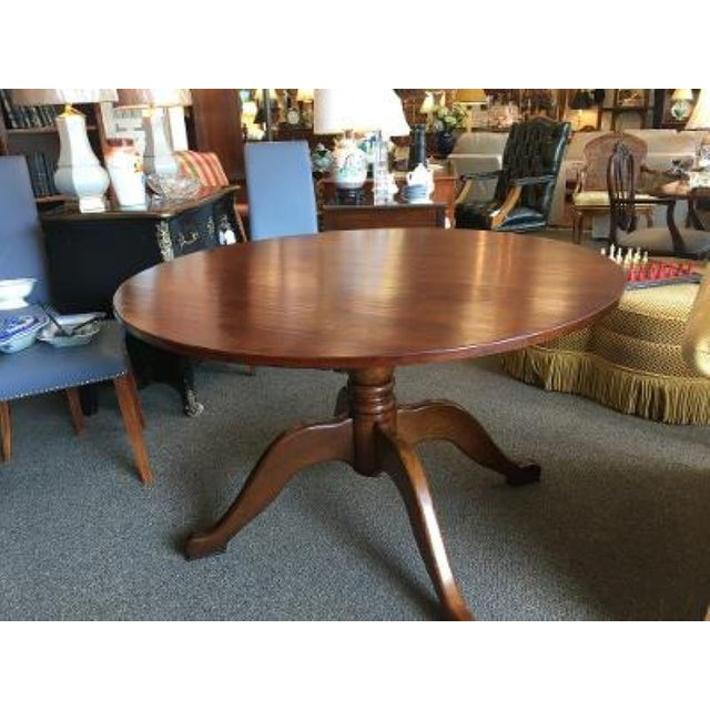 English English Cherrywood Round Pedestal Table For Sale - Image 3 of 6