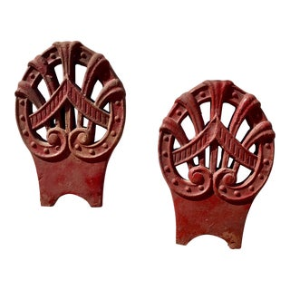 Decorative Chinese Roof Tiles - A Pair For Sale