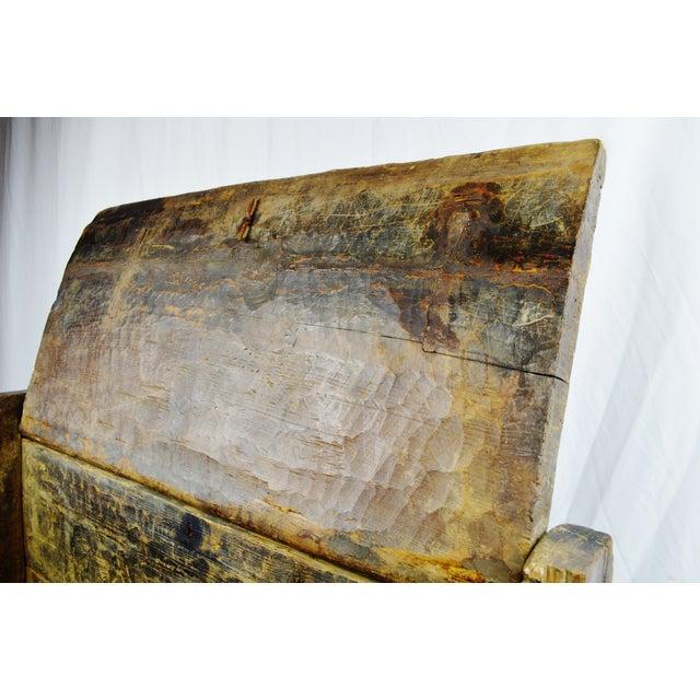 Ancient Kafiristan Wooden Dowry/Treasure Chest - Image 4 of 10