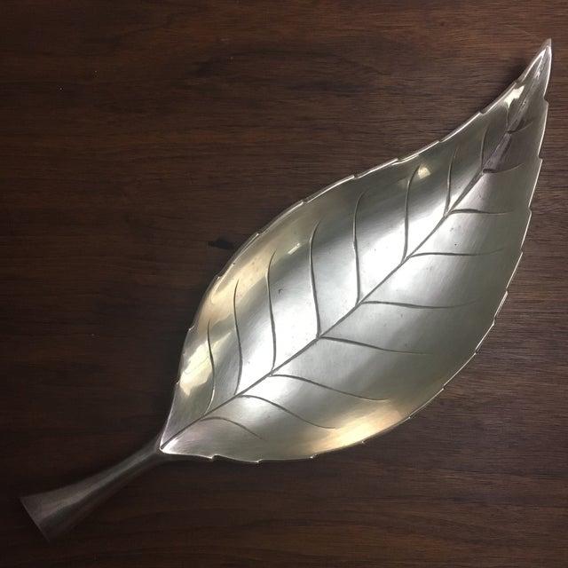 Vintage Brass Leaf Tray For Sale - Image 4 of 7