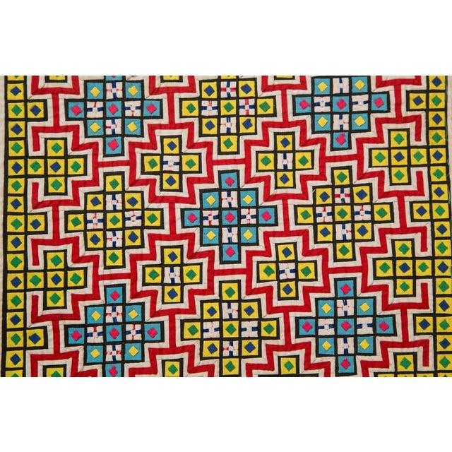 Handwoven Vietnamese Quilt - Image 4 of 4