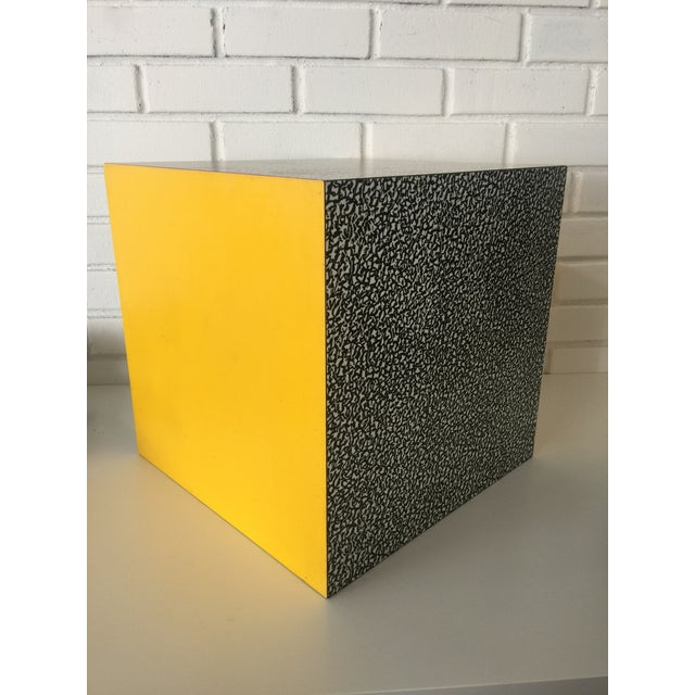 Ettore Sottsass 1980s Memphis Ettore Sottsass for Anthologie Quartetto Cube Table For Sale - Image 4 of 12