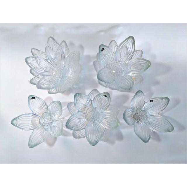 Rosenthal Rosenthal Studio Line Bleikristall German Glass Flower Petal Bowls - Set of 10 For Sale - Image 4 of 13