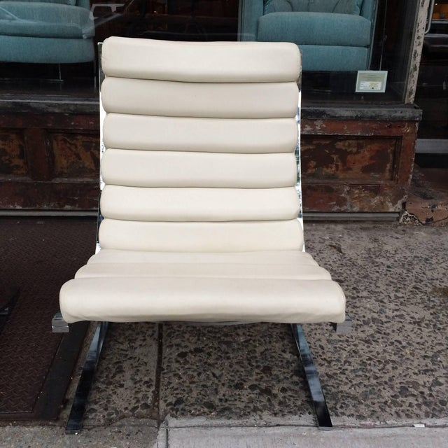 Metal 1970s Vintage Design Institute of America Chrome Cantilever Lounge Chairs- A Pair For Sale - Image 7 of 10