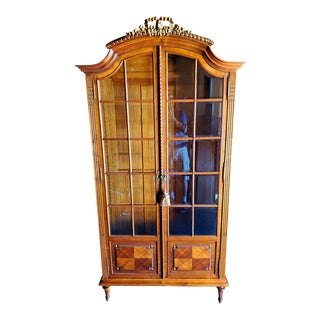 19th Century French Glass Front Armoire For Sale