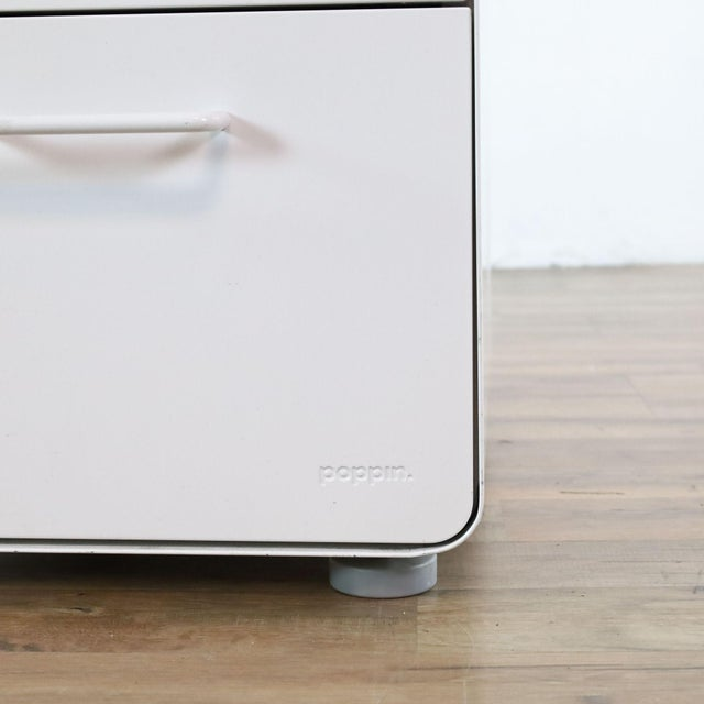 White Poppin White File Cabinet For Sale - Image 8 of 9