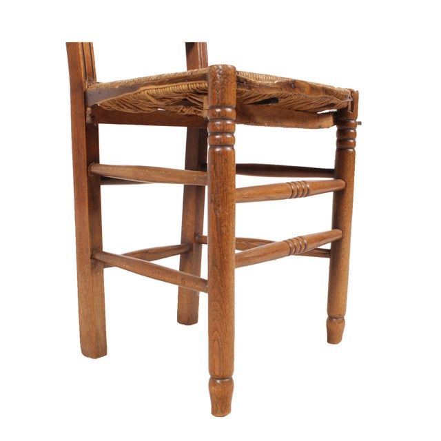 Country French 1940s Rush Chairs - Set of 4 - Image 9 of 9