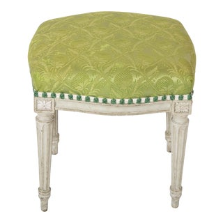 18th Century Tabouret - Gustavian Painted Stool or Bench For Sale