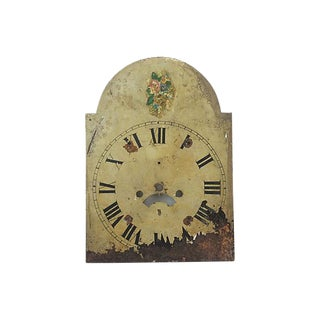 English Hand-Painted Clock Face For Sale
