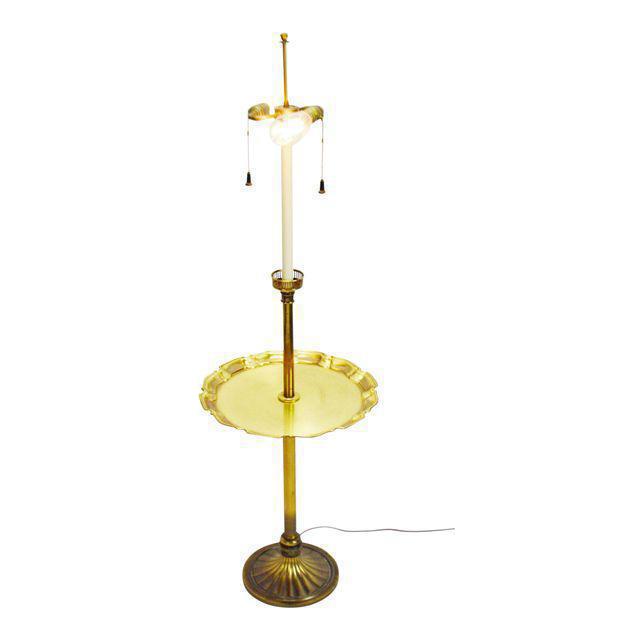stiffel floor lamps. Vintage Stiffel Floor Lamp With Brass Pie Crust Table Top Lamps L
