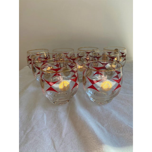 1960s Mid-Century Sasaki Roly Poly Tumbler Glasses - Set of 9 For Sale - Image 13 of 13