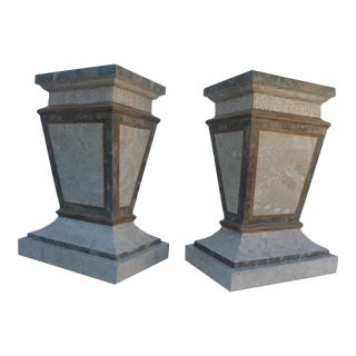 Maitland Smith Fossil Stone Pedestals - Pair For Sale