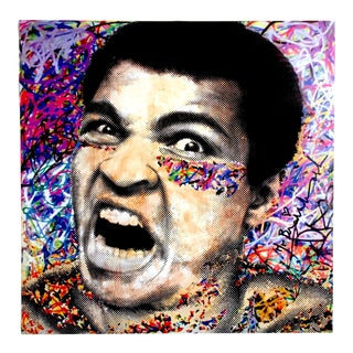 "Mr. Brainwash "" Muhammad Ali "" Authentic Lithograph Print Pop Art Poster For Sale"