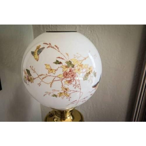 Asian Antique Bradley Hubbard Chinoiserie Brass Triple Shelf Floor Oil Lamp For Sale - Image 3 of 6