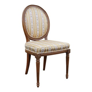 Vintage Hickory Louis XVI Style Oval Back Accent Chair For Sale