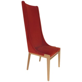 Pietro Constantini of Italy High Backed Upholstered Chair For Sale