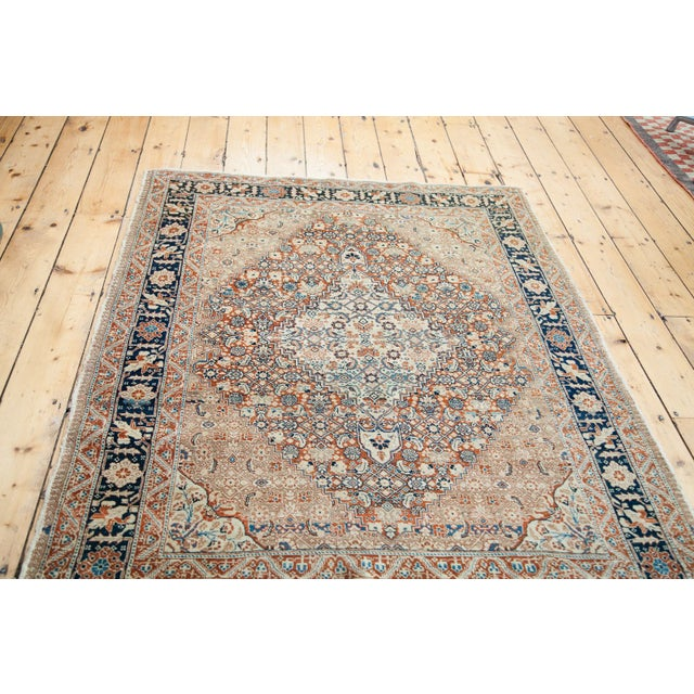 """Traditional Fine Antique Tabriz Area Rug - 4'4"""" x 5'10"""" For Sale - Image 3 of 3"""