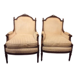 Early French Bergere Chair - a Pair For Sale