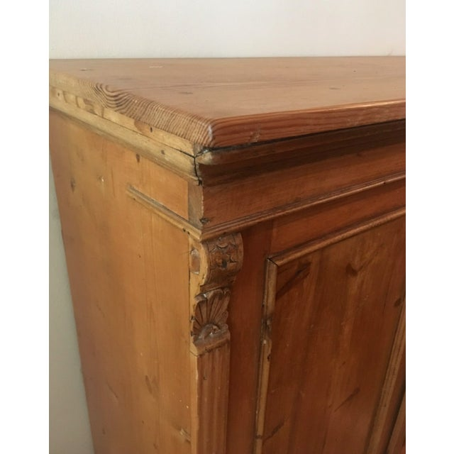 19th C Antique French Pine Cabinet For Sale - Image 10 of 13