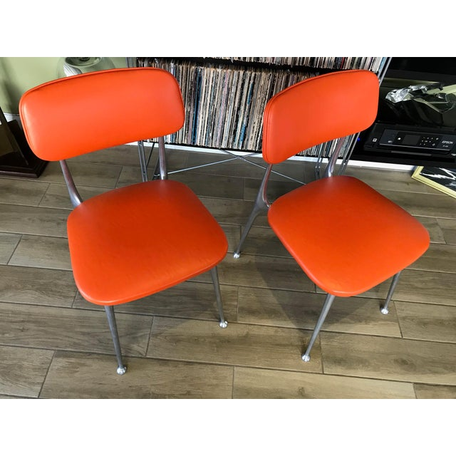 Metal Pair of Gazelle Chairs - Newly Upholstered For Sale - Image 7 of 13