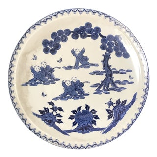 20th Century Asian Antique Blue and White Ceramic Dish