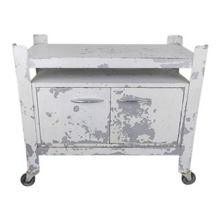 Vintage Rolling Medical Cabinet Bar Cart