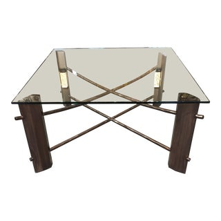 """""""Zen Table"""" Bronze Metal Finish Modern Cocktail Table For Sale"""