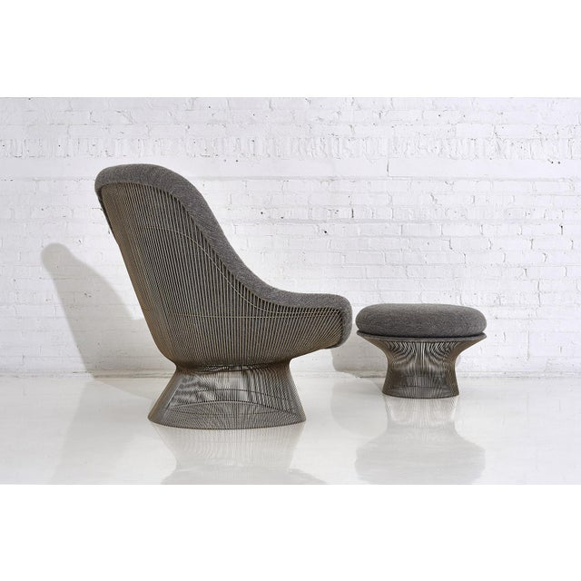 Gray Warren Platner for Knoll Lounge Chair With Ottoman For Sale - Image 8 of 11