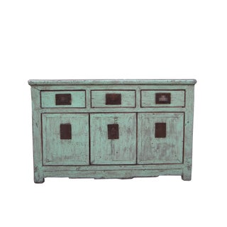 1940s Asian Modern Pale Blue 3 Drawer Sideboard Preview