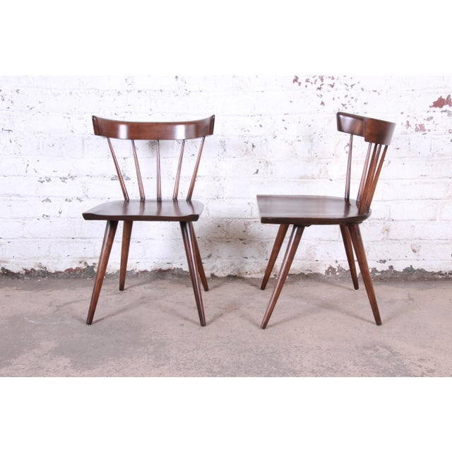 Contemporary Paul McCobb Newly Refinished Planner Group Dining Chairs, Pair For Sale - Image 3 of 13