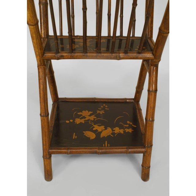 Traditional 19th Century English Parcel Lacquered Bamboo Magazine Rack For Sale - Image 3 of 4