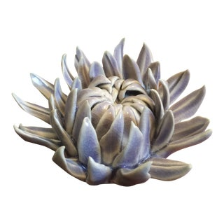 Purple Ceramic Sea Urchin For Sale