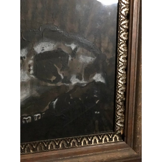 Black and White Watercolor of an Animal Skull For Sale - Image 10 of 11