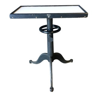 Industrial Bausch & Lomb Adjustable Optometrist Table For Sale