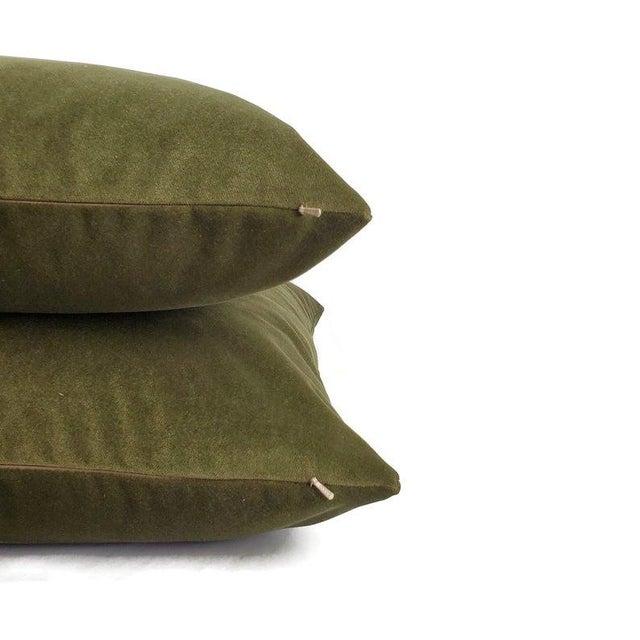 """Not Yet Made - Made To Order Kravet Delta Velvet in Loden Green Pillow Cover - 20"""" X 20"""" Solid Moss Green Velvet Cushion Case For Sale - Image 5 of 7"""
