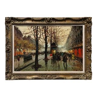 Henri Renard, French Street Scene, Oil For Sale