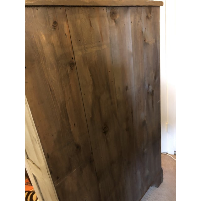 Antique French Country Painted Cupboard For Sale - Image 4 of 11