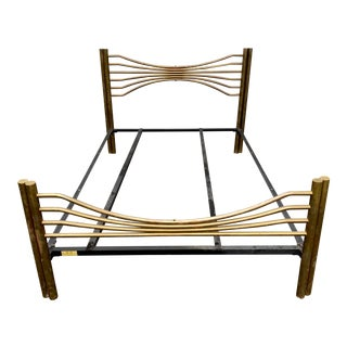 20th Century Brass Queen Extended Bedframe For Sale