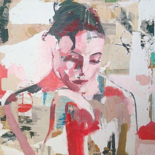 """Donna Weathers """"Once Ruled"""" Abstract Nude Mixed Media Painting For Sale"""
