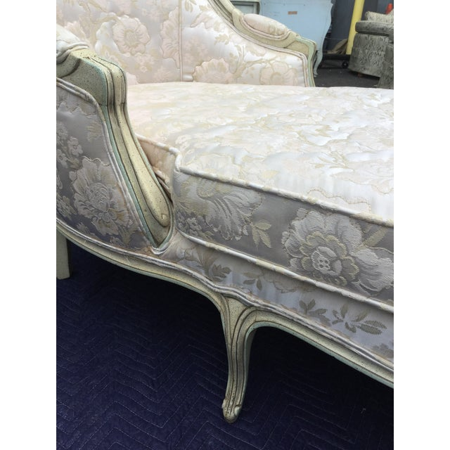 Louis XV-Style Painted Chaise Lounge - Image 3 of 5
