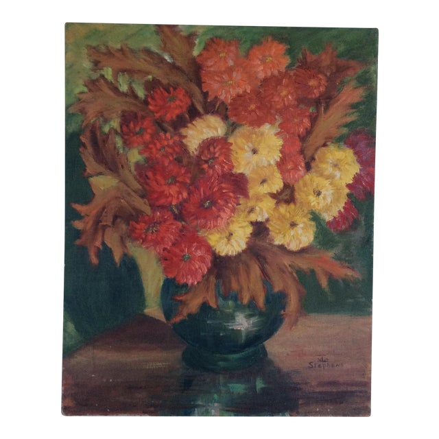 1960s 'Autumn Flowers' Painting For Sale