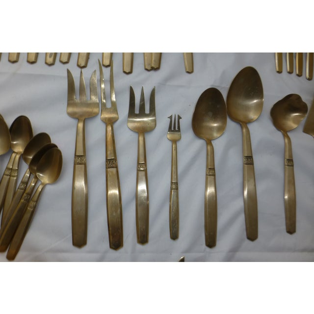 Mid-Century Modern Flatware Service for 12 - Image 4 of 11