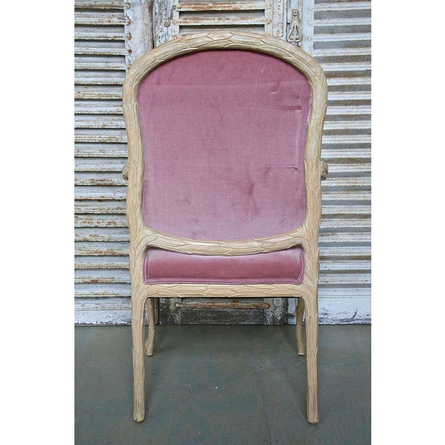 1960s Hollywood Regency Hand-Carved Dining Chairs - Set of 6 For Sale - Image 9 of 11