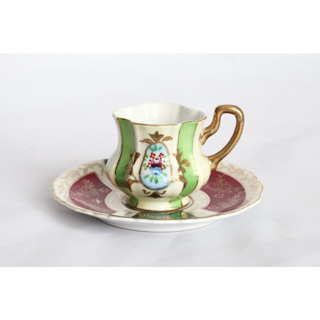 Japanese Gold Leaf Miniature Tea Cup & Saucer - Image 10 of 11