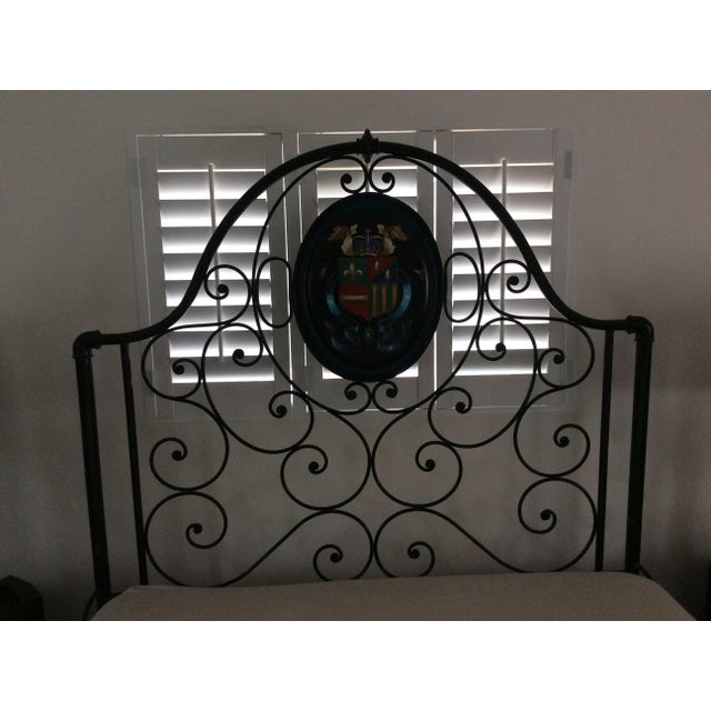 Ornate Iron Queen Size Bed - Image 3 of 5