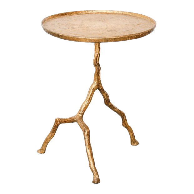 Gilt Iron Branch Form Side Table For Sale