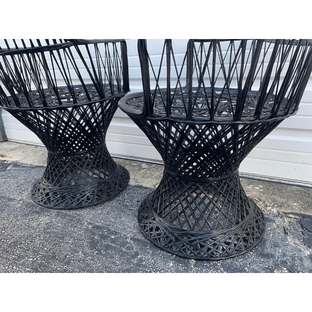 1960s Mid Century Russell Woodard Spun Arm Chairs - A Pair For Sale - Image 5 of 9